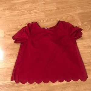 Alya Scalloped Top Size Small